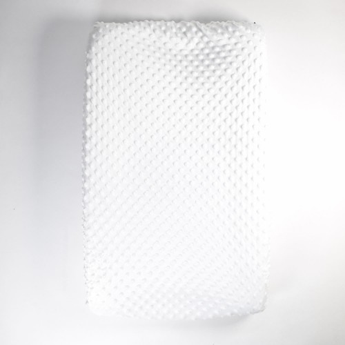 Aankleedkussenhoes minky wit