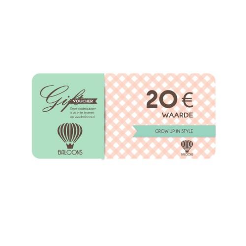 Cadeaubon Baloons € 20