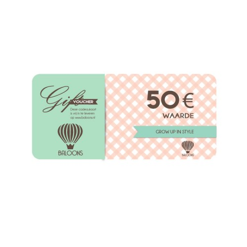 Cadeaubon Baloons € 50