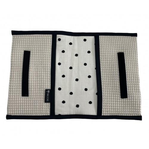Luieretui wafel lichtbeige - little dots