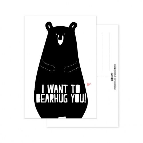 Frou Frou ansichtkaart Bearhug