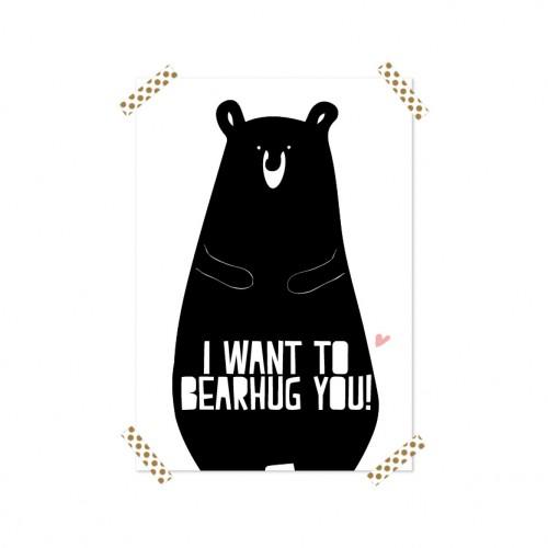 Frou Frou Poster (A4) Bearhug