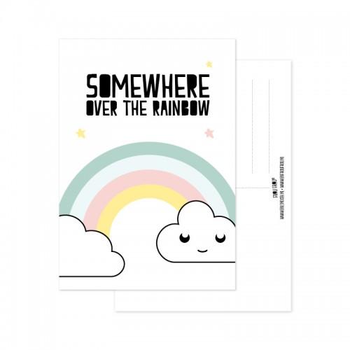 Frou Frou ansichtkaart Rainbow