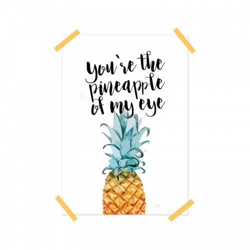 Frou Frou Poster (A4) Pineapple