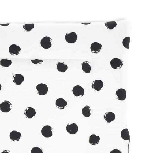 speelkleed big black dots - teddy fleece