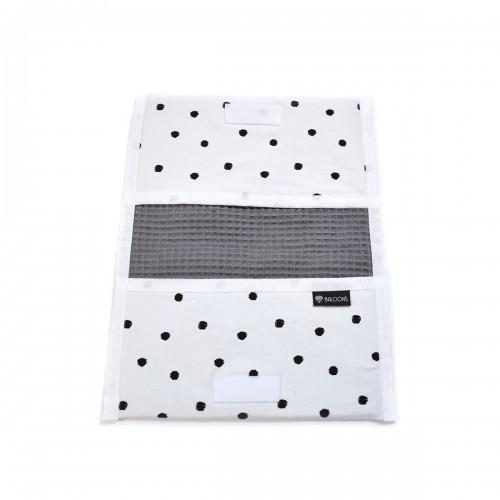 Luieretui wafel donkergrijs - little dots