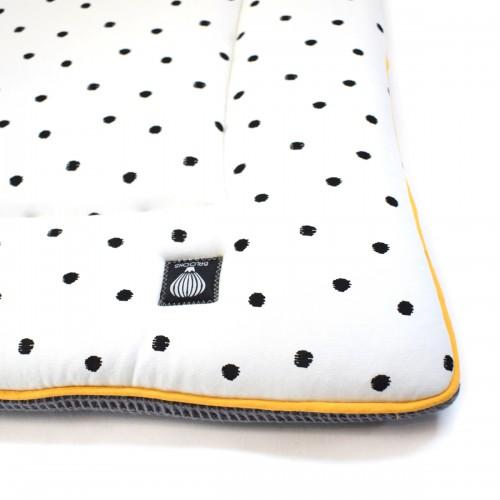 Boxkleed wafel donkergrijs - little dots