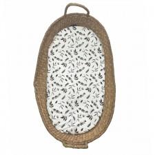 Verschoonmand matrasje (kwantum) leaves taupe- teddy beige